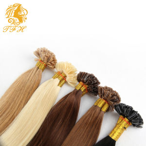 Brazilian U-Tip Hair Extensions 9 Colors Brown Blonde Kertain Prebonded Human Hair Extension 18-24 Inch Free Shipping pictures & photos
