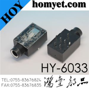 6.35mm Phone Jack / Audio Socket with DIP Type (HY-6033) pictures & photos