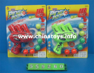 Shooting Pingpong Gun Pistol Soft Bullet Toy (559260) pictures & photos