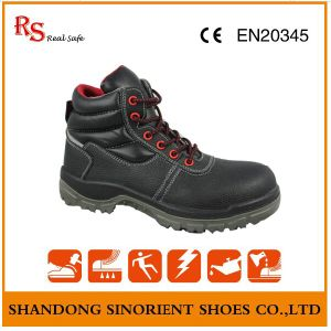 Leather Work Shoes, Comfortable Safety Shoes, Steel Toe Safety Shoes RS012 pictures & photos