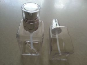 Clear Square Cosmetic Cream Body Lotion PETG Bottle Jj-014 pictures & photos