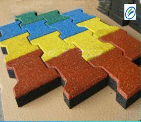 High Quality Solid Color Dog Bone Rubber Paver