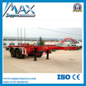 China 3 Axle 40ton 40FT Container Skeleton Trailer pictures & photos