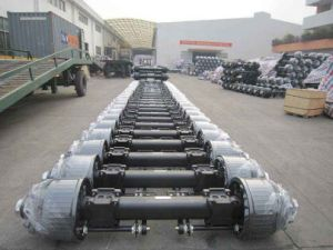 146 Round Axle Tube 16t Fuwa Type Semi Trailer Axle pictures & photos