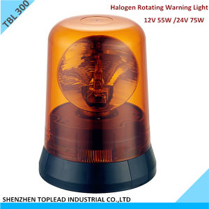 12V /24V Halogen Rotating Warning Light, Halogen Rotary Warning Beacon Light, 12V Revolving Warning Light (TBL 300)