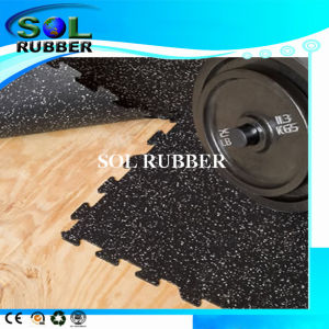 Fire Resistance Premium Quality Fitness Interlock Rubber Floor pictures & photos