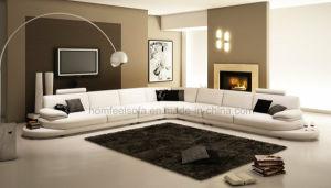 Italian Modern Fashion Furniture Leather Sectional Sofa (S639)