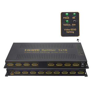 1X16 HDMI Splitter (with EDID, support 3D, 4K) pictures & photos