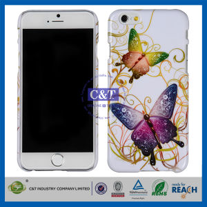 C&T Fashion Colorful Butterfly Printed Hot Sell Case for iPhone 6 pictures & photos