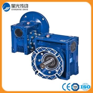 Aluminum Double Worm Geared Motor with Shaft Input pictures & photos
