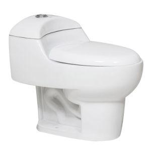 One Piece Ceramic Toilet Closet, Siphonic Ceramic Water Closet (CB-9048)