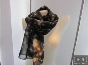 100% Pure Silk Fashion Lady Chiffon Printed Starlight Scarf/Shawl/Foulard