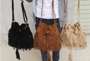 Lady Slouch Handbag, Fringe Tassel Bag