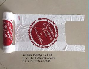 PE T-Shirt Bag Vest Type Carrier Glue Spot Bag Singlet Plastic Bag pictures & photos
