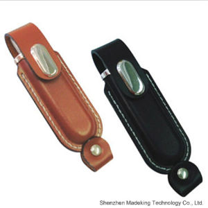 2015 Promotional Leather USB Flash Drive USB Disk pictures & photos