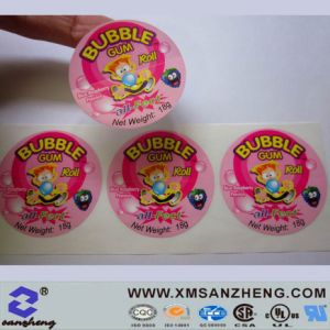 Full Color Self Adhesive Clear Glossy Scratch Resistant Candy Packaging Stickers pictures & photos