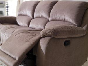 Leather Fabric Recliner Sofa 3seater Sofa Bed pictures & photos