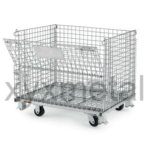 Galvanized Warehouse Storage Collapsible Wire Mesh Containers pictures & photos