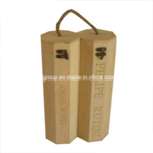 Classical Design Exquisite Portable Customized Wine Box in Different Wood pictures & photos