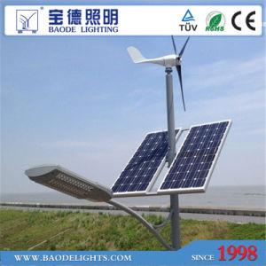 6mpole 30W LED 300W Turbine Solar Wind LED Light pictures & photos