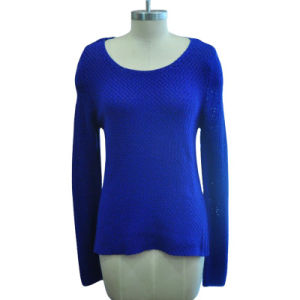 Wholesale Pure Color Round Neck Pullover Women Knitwear pictures & photos
