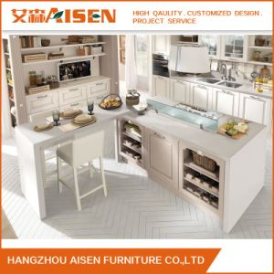 China Factory Directly Selling Solid Wood Kitchen Cabinet pictures & photos