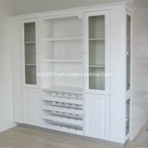 Customize European Sample White Baking Paint Wine Cabinet pictures & photos
