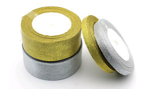 Wholesale Polyester Silvery Metallic Ribbon pictures & photos