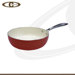 Crimson Ceramic High Frying Pan