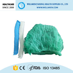 Disposable Bouffant Mob Cap Colorful Nonwoven Clip Hair Net pictures & photos