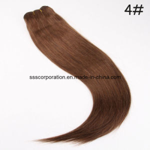 100g Colored Straight 100% Remy Human Hair Weft pictures & photos