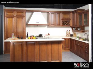 2015 [ Welbom ] Popular Sale Solid Wood Kitchen Cupboard pictures & photos