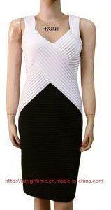 Women′s Solid Knitted Dress with Pinned (RTD14061) pictures & photos