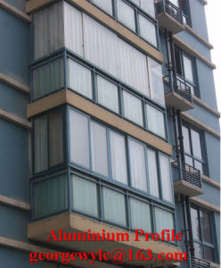 Aluminum Extrusion Frame Section Profile for Doors and Windows pictures & photos