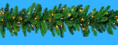 Pre-Lit Sparkling Pine Garland with 100 Clear Incandescent Lights (MY205.445.00) pictures & photos