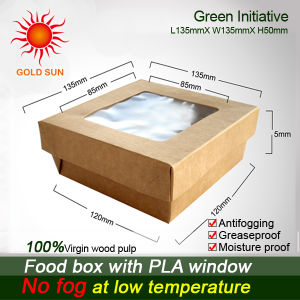 Food Grade Food Box with PLA Window (K135-D) pictures & photos