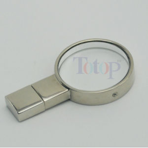 Round Shape USB Flash Drive Crystal Engraving Logo pictures & photos