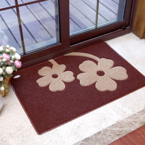 PVC Vinyl Plastic Coil Loop Spaghetti Embossed Printed Door Floor Flooring Mats pictures & photos