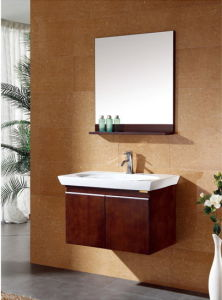Solid Wood Modern Bathroom Cabinet Vanity Ca-M124 pictures & photos