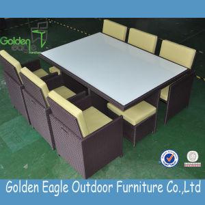 SGS PE Rattan Outdoor Garden Dining Set