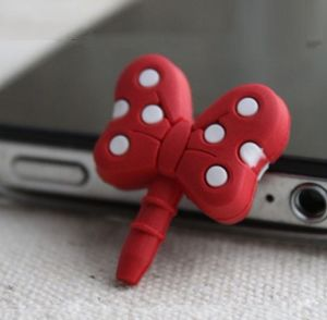 Red Butterfly PVC Anti Dust Plug for Cell Phone