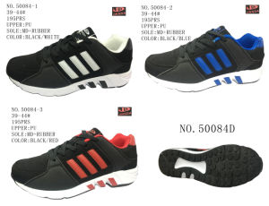 No. 50084 Three Colors Men PU Sport Stock Shoes pictures & photos