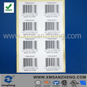 Custom Clear Glossy Self Adhesive Rain Resistant Cmyk Barcode Labels pictures & photos