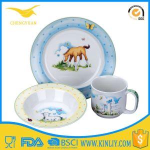 Original Porcelain Kids Salad Plate Children Dinnerware 3 Piece Set pictures & photos