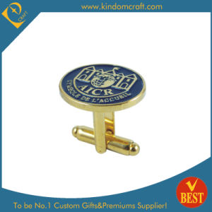 Golden Oval Shape Logo Metal Cufflink for Sale Promotional Gift pictures & photos