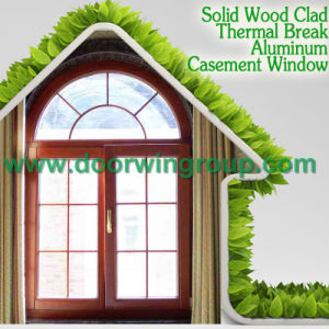 New Design Aluminum Window with Solid Oak/Teak/Larch/Pine Wood Cladding, Wooden Color Aluminum Round Window pictures & photos