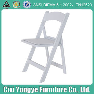 Plastic Frame Resin Folding Chair with Seat Pad pictures & photos