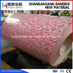 Printed PPGI / Color Coated Steel Coil with Flower Design pictures & photos