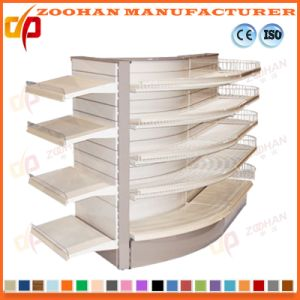 Manufactured Customized Punched Metal Supermarket Wall Shelves (Zhs561) pictures & photos