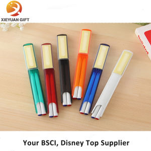 Popular Printing Logo LED Sticky Note Pen with Ribbon pictures & photos